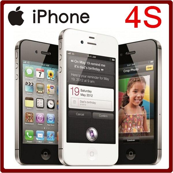 bilder für 100% Original iPhone 4 S Entsperrt 3,5 Zoll 8/16/32/64 GB ROM GSM 8MP Kamera WIFI GPS IOS Handy Freies Verschiffen
