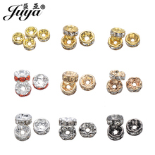JUYA 50pcs/lot 6mm Round Crystal Beads for Bracelet Pendant Necklace Jewelry Making Accessories Wholesale Lots Bulk PR0006