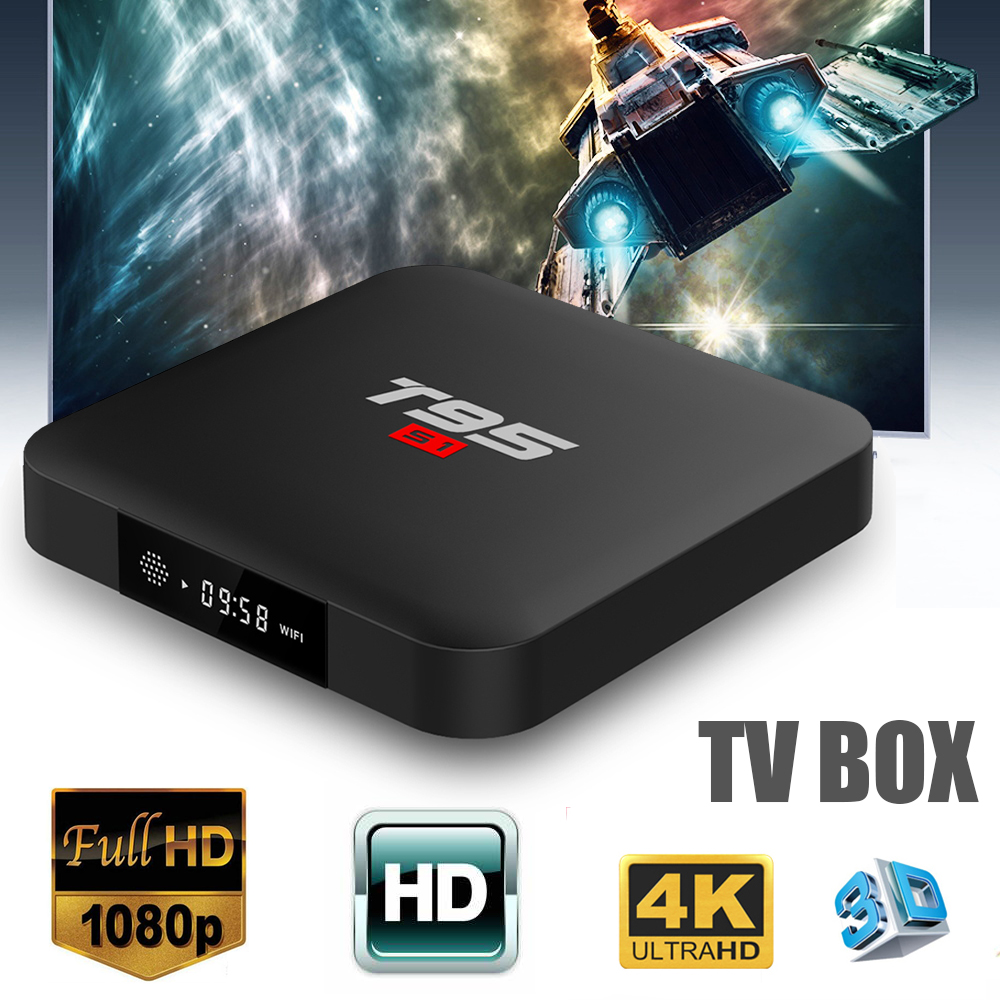 2019 new TV box T95S1 android 7.1 vs mecool media player Amlogic S905W Quad Core optional 1G+8G 2GB+16GB Voice Remote Control