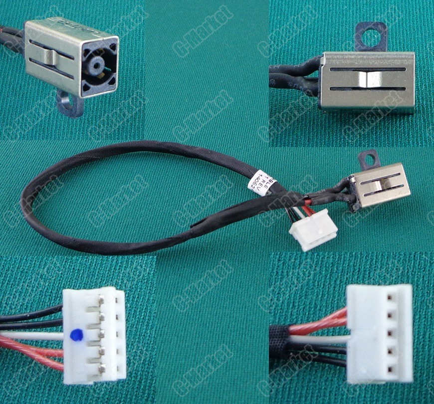 1 20pcs/lot Power For Dell B551 Inspiron MICRO socket connector New DC Jack with cable DC laptop Power Jack connector with cable|power socket connector|power jack connector|power jack - title=