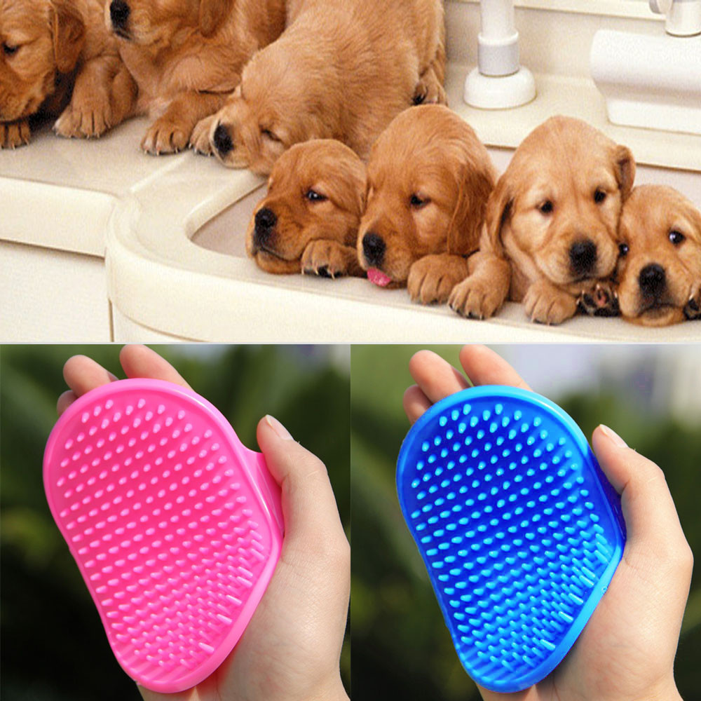 New Qualified Pet Dog Cat Bath Brush Comb Rubber Glove Hair Fur Grooming Massaging Massage Mit Pet Shower Dog Brush
