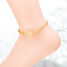 Heart Shape Anklets For Girls
