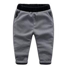 Дети с кашемир случайные штаны 2016 зима новый мальчик брюки брюки цвет толстые двойные джентльмен