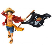 ONE PIECE Magazine Title Page Monkey D. Luffy Jolly Rogers PVC Action Figure Collectible Model Toy Boxed 22cm Holiday gifts