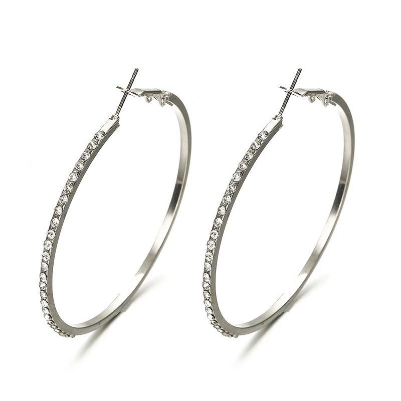 HTB1WXYkXIrrK1RjSspaq6AREXXaC - 7cm Super Crystal Big Circles Hoop Earrings