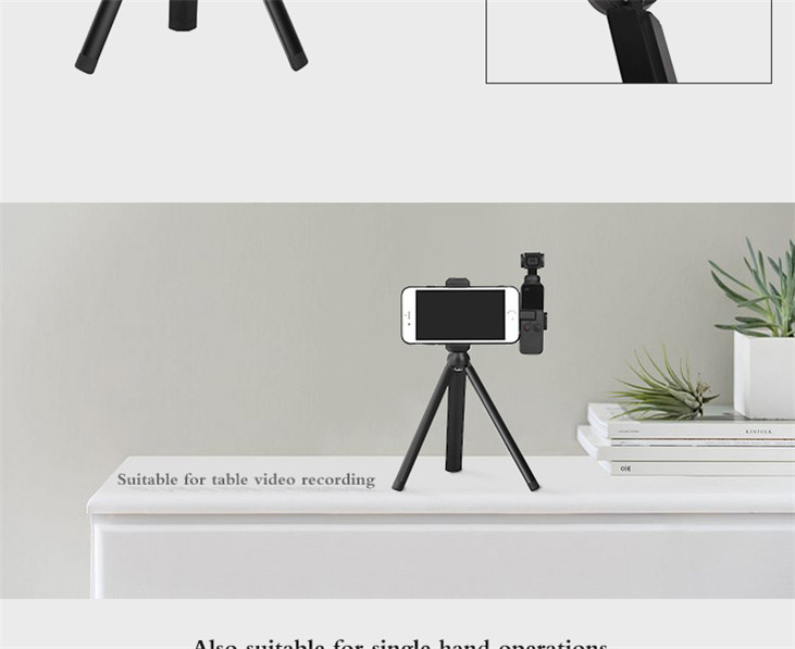 OSMO Pocket Smartphone Fixing Bracket Stand Clamp Extending Rod Tripod for DJI OSMO POCKET Gimbal Accessories 11