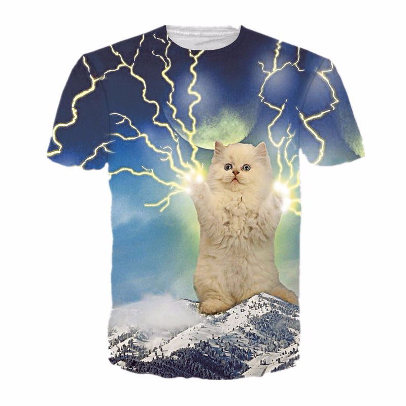 HTB1WXYrMpXXXXa2XpXXq6xXFXXXP - 2017 NEW Surprised t-shirt fluffy cuddly terrified cat faces awesome