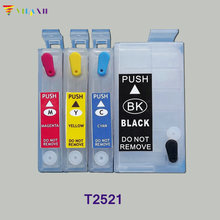 цена на vilaxh T2521 For Epson refill Ink Cartridge For epson WorkForce WF-3620 WF-3640 WF-7110 WF-7610 WF-7620 wf 3620 3640 7610 7110