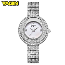 2017 new female diamond watch lady dress women watch diamond luxury brand bracelet watch fashion quartz watch Relogio Feminino