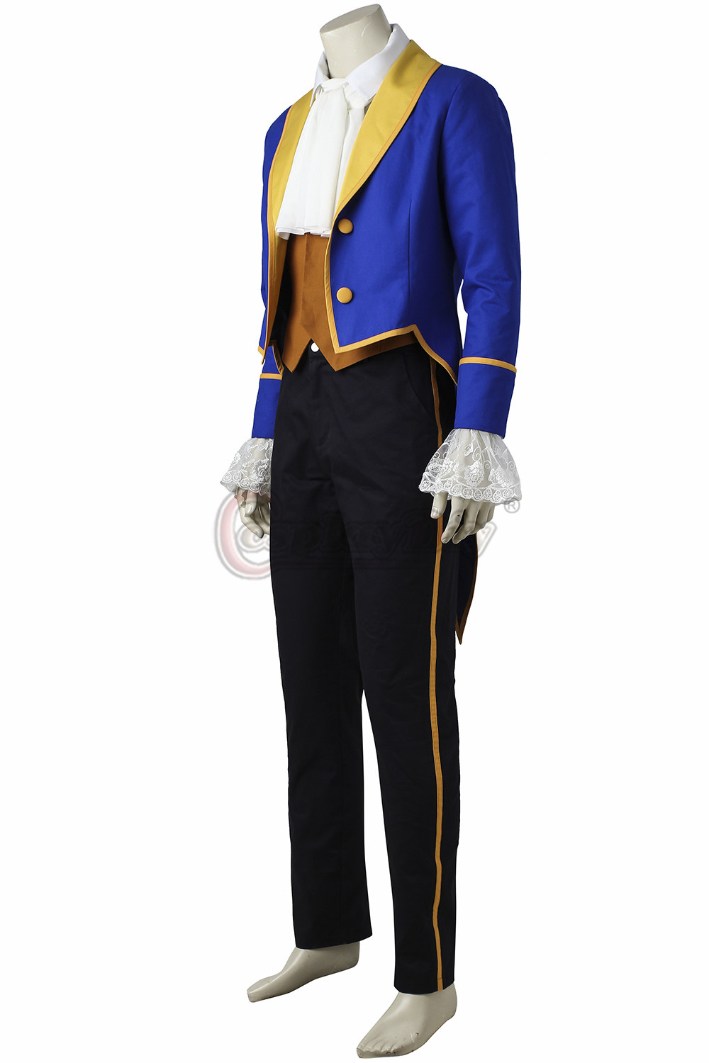 Custom Made Beauty And The Beast Prince Cosplay Costume Men Wedding Suit Carnival Top Vest Pants Shirt J84 In Anime Costumes From