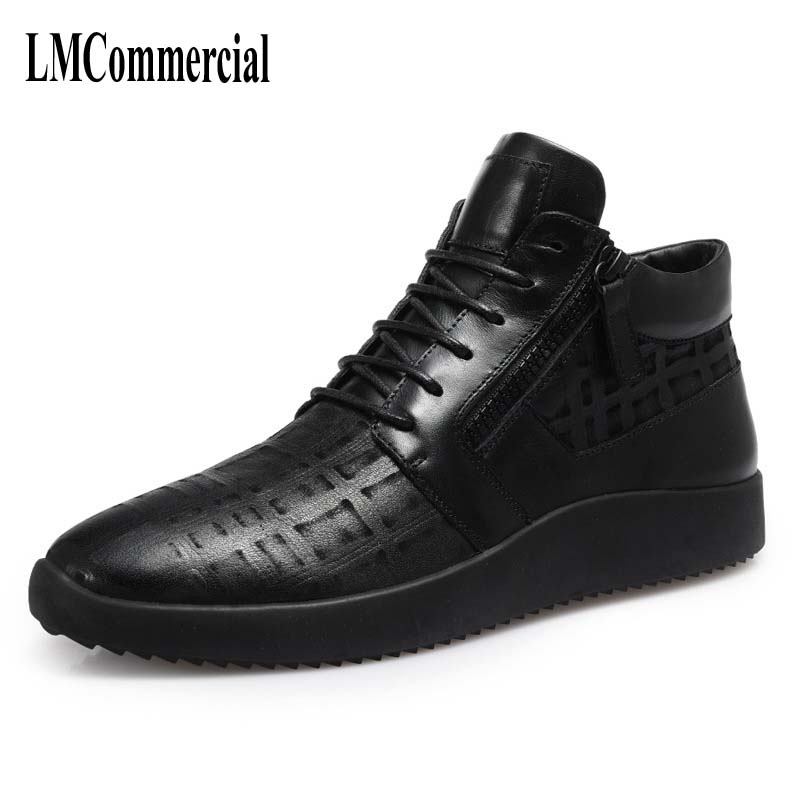2017 new autumn winter British retro men shoes zipper leather breathable sneaker fashion boots men casual shoes martin boots men s high boots korean shoes autumn winter british retro men shoes front zipper leather shoes breathable