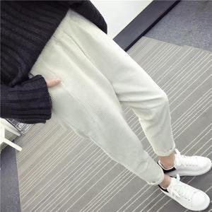 Image 5 - Женские вельветовые брюки, повседневные шаровары большого размера 3XL с эластичным поясом, на осень и зиму, C4856