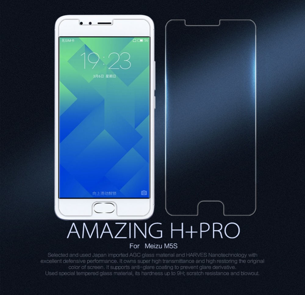 Nillkin Touch Screen Protector Amazing H+PRO for Meizu m5s Tempered Glass 9H protective guard film for Meizu m5 s +clean kits