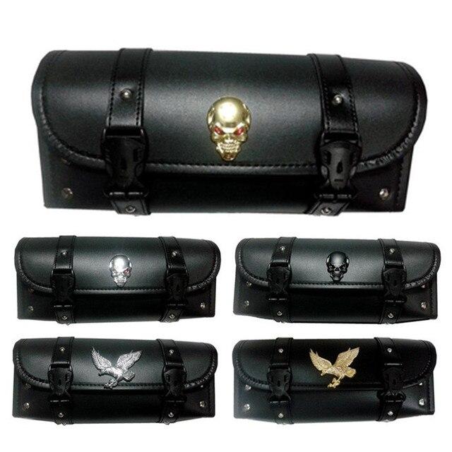 Motorcycle Tool Bag Luggage Saddlebags Universal Motorcycle Bag Riding Travel Bags PU Leather Saddle Bag for Kawasaki Harley