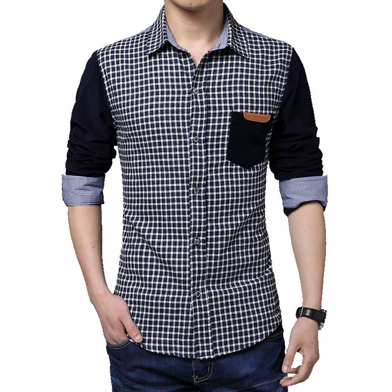 HCXY autumn 2017 mens business shirt stitching 5XL ...