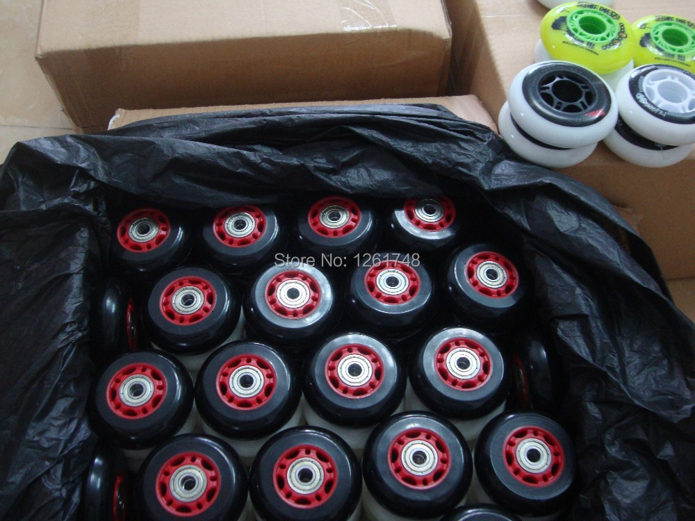 8PCS! (Including 608ABEC 7 bearings) Free shipping! 64 / 68mm wear resistant polyurethane wheels / skate wheels/roller wheels-in Flashing Roller from Sports & Entertainment    2