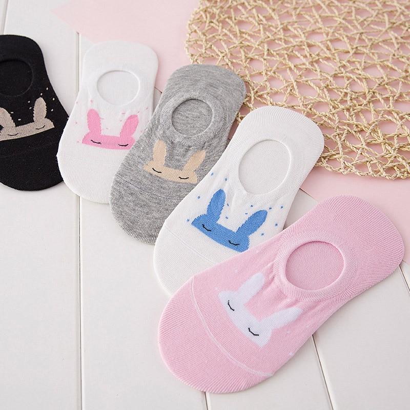 1 Pair 2017 New Fashion Cute Women Multi-colors Cotton Socks Animal Rabbit Pattern Cartoon Lovely Causal Lady Socks Gift