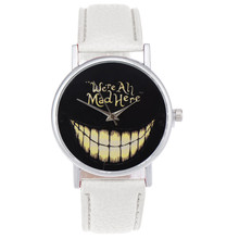 2018 Cretive Big Teeth Geneva Watch Women Casual Sports Quartz Wristwatches PU Leather Watch luxury watches