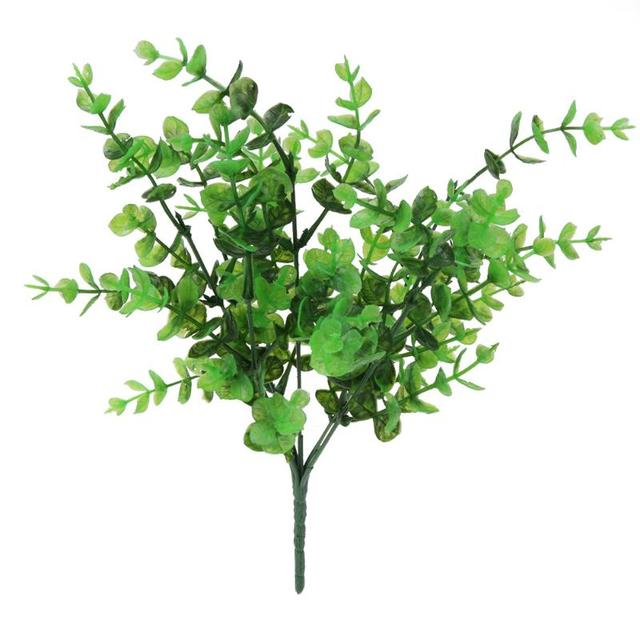 7 Branches Artificial Fake Eucalyptus Plant Flowers Fake Floral Simulation Plastic Plant Flowers Cafe Office Home Ornament