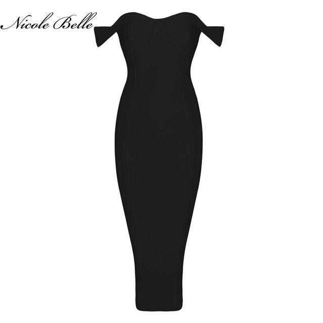 33b8b7121104 2017 summer new women dress white black red khaki elegant luxury off  shoulder bodycon knee-length evening party bandage Dress