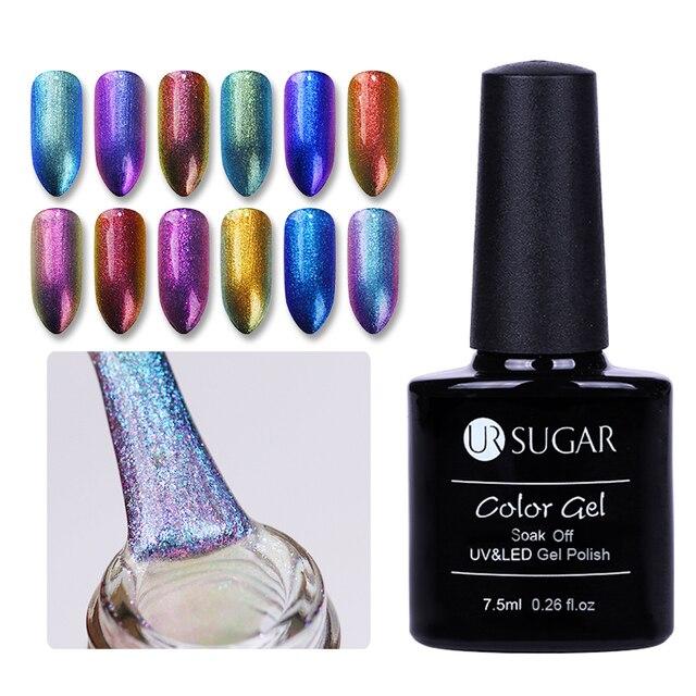UR סוכר 7.5 ml לספוג את UV זיקית סדרת ג 'ל פולני נוצץ כוכבים לכה ג' ל UV מנורת LED לכה מניקור