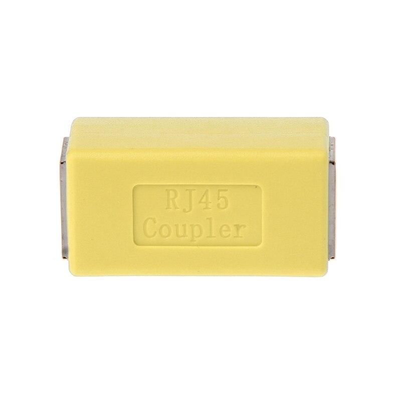 Желтый RJ-45 Инструменты Женский соединительным cat6 8P8C локальной сети Ethernet Инструмент Расширение адаптер