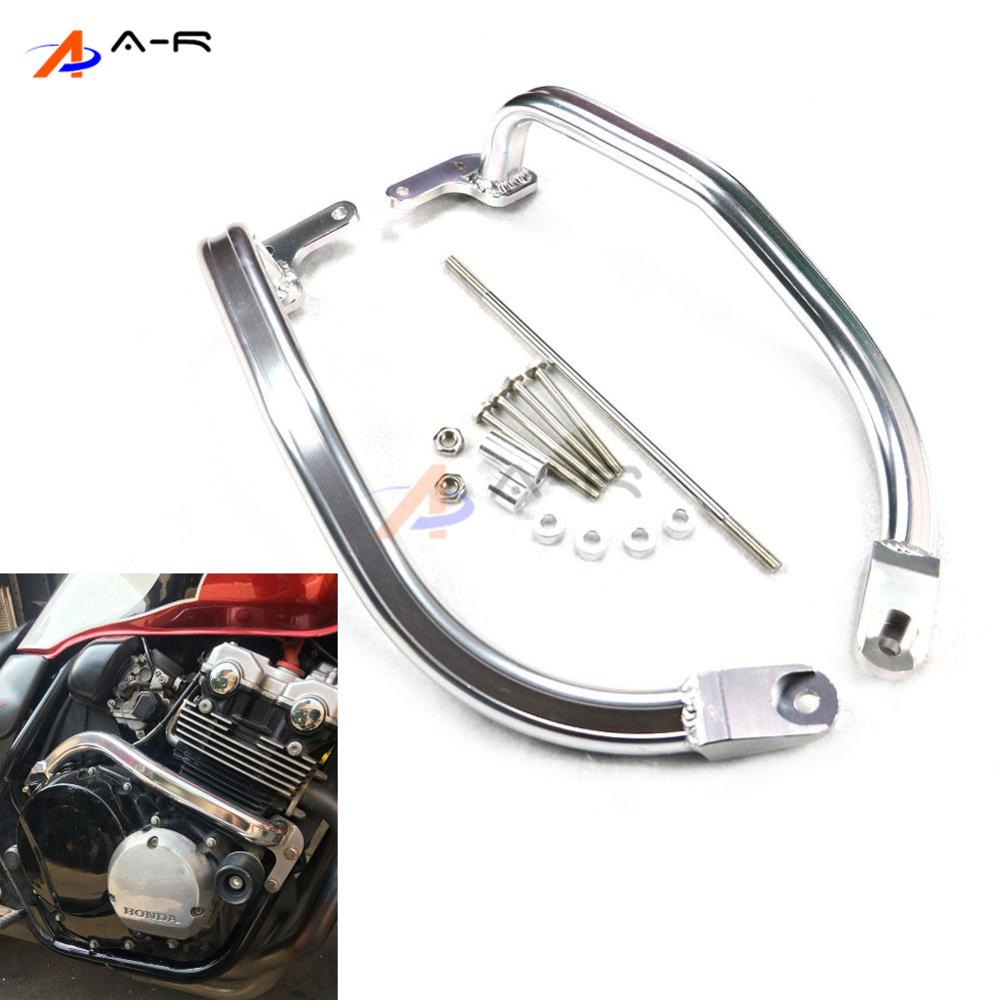 Crash Bar CNC Engine Guard Rail Motorcycle Fence Bumper Front Side Frame Protector for Honda CB400 VTEC 1999-2012 2011 2010 2009 high quality for bmw r1200gs 2013 2014 2015 motorcycle upper engine guard highway crash bar protector silver