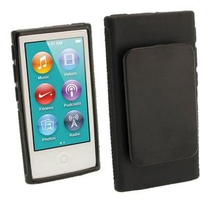 Image 1 - ハイブリッド TPU シリコーンケースアップルの Ipod Nano 7 保護ケース s 7th 世代 Nano7 7 グラムカバー Coques fundas とベルトクリップ黒