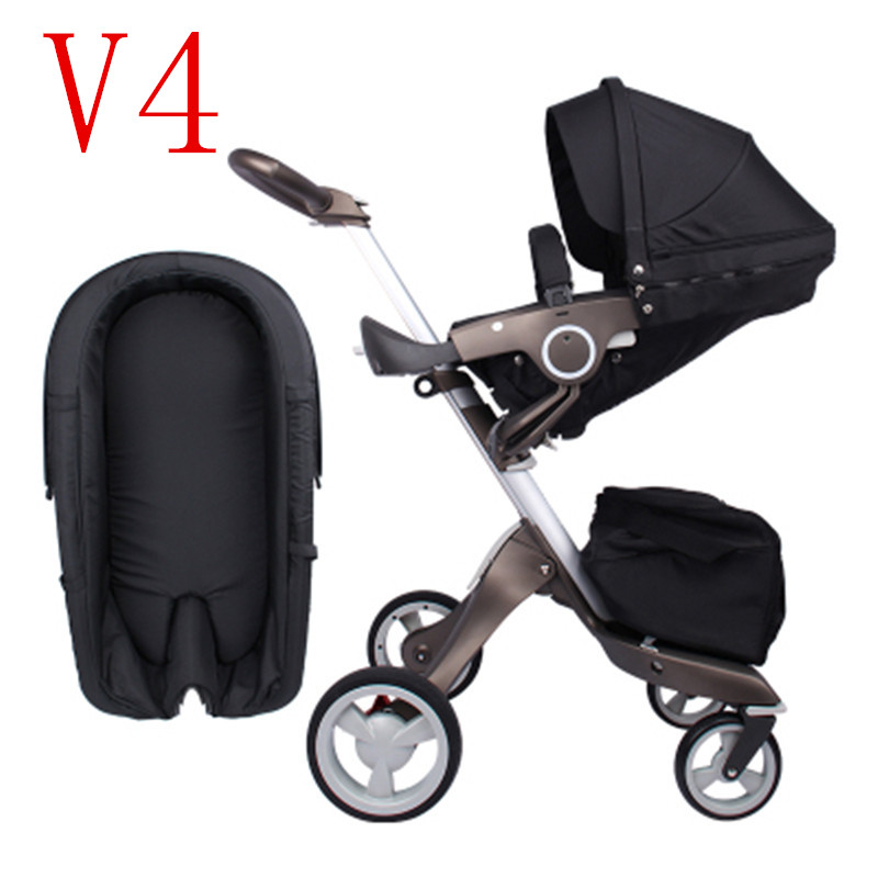 Luxury Baby Stroller 2 in 1 High Landscape Portable Baby Carriages Can Fold Strollers For Newborns ...