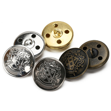 Copper Metal Button Retro Jeans Coat Jacket Buttons Clothes Decorative Buckle Accessories Antique Silver/Bronze/Silver/Gold
