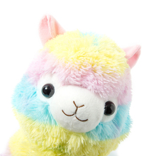 35/45cm Rainbow Alpaca Plush Toy Vicugna Pacos Japanese Soft Plush Alpacasso Sheep Llama Stuffed Toy Gifts for kids and Girls