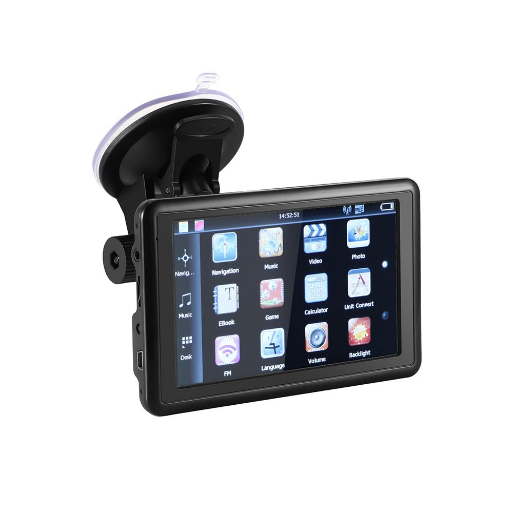 5 inch  Auto Car GPS Navigation 128M Sat Nav latest Free Maps WinCE 6.0 FM Support Multi languages with Retail Box Vehicle GPS     - title=