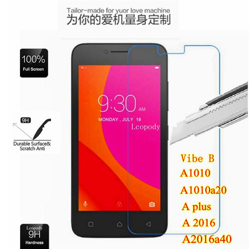 Tempered glass Film cover FOR lenovo A plus A1010a20 A2016a40 Aplus A1010 vibeA A 1010 a20 2016 a40 Vibe B Protector Film case