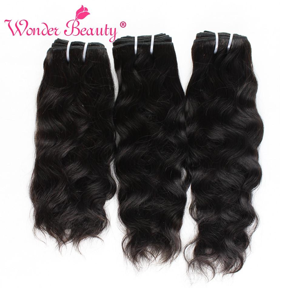 Natural Wave Hair Bundles Brazilian Hair Weave Bundles Wonder Beauty Natural Black 100 Human Hair Extension