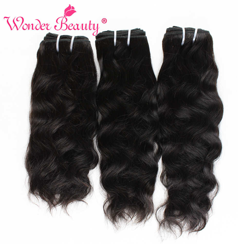 "Natural Wave Hair Bundles Brazilian Hair Weave Bundles Wonder Beauty Natural Black 100% Human Hair Extension 8-30"" Non Remy Hair"