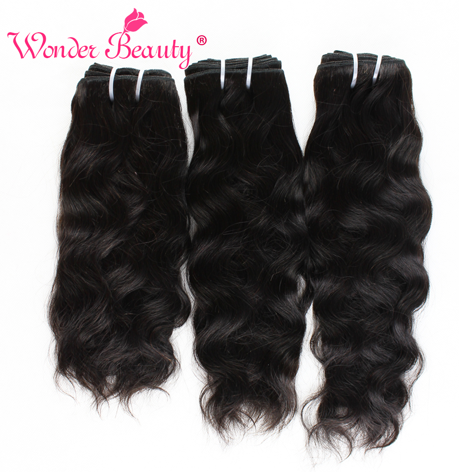 Natural Wave Hair Bundles Brazilian Hair Weave Bundles Wonder Beauty Natural Black 100% Human Hair Extension 8-30