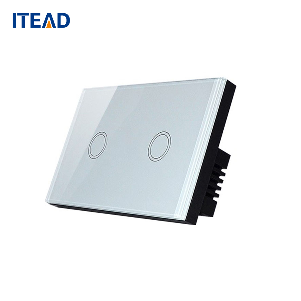 Smart Wall Touch Switch Light Panel US Touch On/Off Sensor 2 Gang One 1 Waterproof Tempered Panels 240V Controller Switch us 1gang remote controller switches tempered glass panel hand touch switches bedroom light switch smart home wall switch