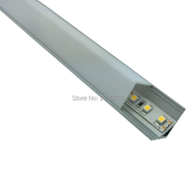 50 X 1M komplekti / partijas taisnais leņķis Anodizētais stūra izspiešana AL6063 alumīnija stūra kanāls virtuves ledusskapim vai skapja gaismām