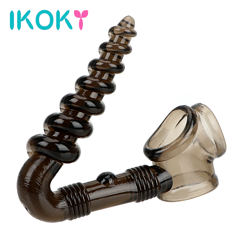 IKOKY Silicone Erotic Prostate Massage Male masturbator Sex Toys for Men Penis Ring Anal plug Cock Ring Stimulator Butt PlugIKOKY Silicone Erotic Prostate Massage Male masturbator Sex Toys for Men Penis Ring Anal plug Cock Ring Stimulator Butt Plug