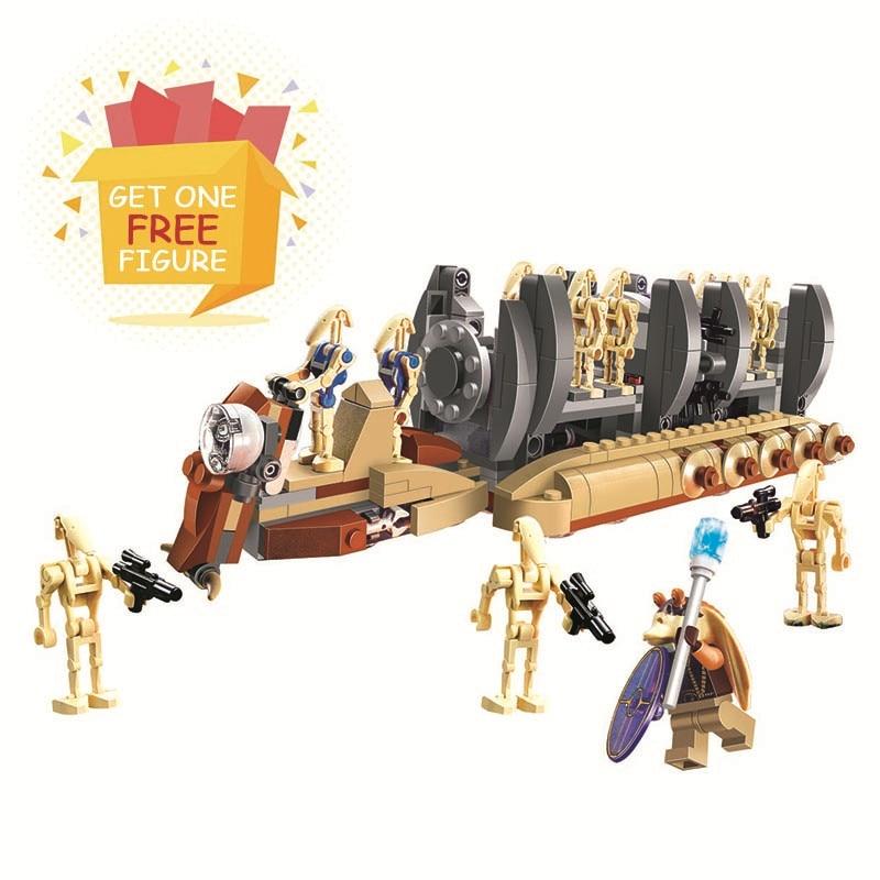 Bela Pogo Compatible Legoe Space Star Wars 565pcs 10374 Battle Droid Troop Carrier Building Blocks Bricks toys for children bela pogo compatible legoe space star wars action figures e hotsale 4 in 1 building blocks bricks toys for children