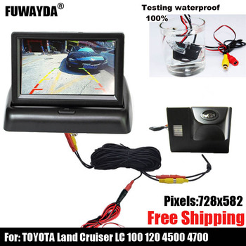 free shipping!!!SONY CCD Chip Sensor Car Rear View CAMERA for TOYOTA Land Cruiser LC 100 120 4500 4700 image