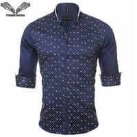 2016 New Spring Brand Fashion Long Sleeves Men Shirt Long Sleeve Cotton Male Shirts Fitness Slim