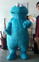 OISK Tùy Chỉnh Dài Lông Màu Xanh Cookie Quái Vật Mascot Costume Phim Hoạt Hình Sang Trọng Trang Phục Nhân Vật Outfits Halloween Giáng Fancy Dress