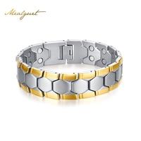 Men Football Design Bracelet High Quality Magnetite Germanium Charms Bracelets Bangles 21cm Healthy Energy Bracelets