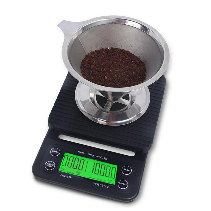 SANBEI 0,1g 3 kg Digitale Waagen Elektronische Kaffee Elektronische Timer