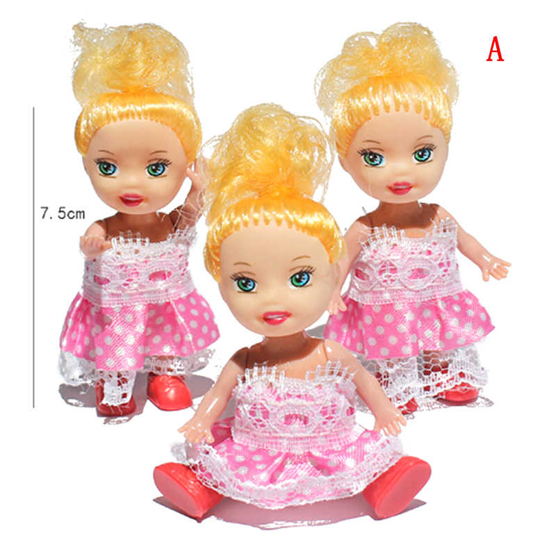 Детский подарок на день рождения игрушки Маленькая Келли куклы игрушки модный мультфильм принцесса куклы сестричка Келли куклы Мини-куклы игрушки для 1 шт.