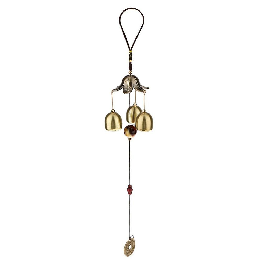 Bronze Big Metal Bells Wind Chime Feng Shui Outdoo.