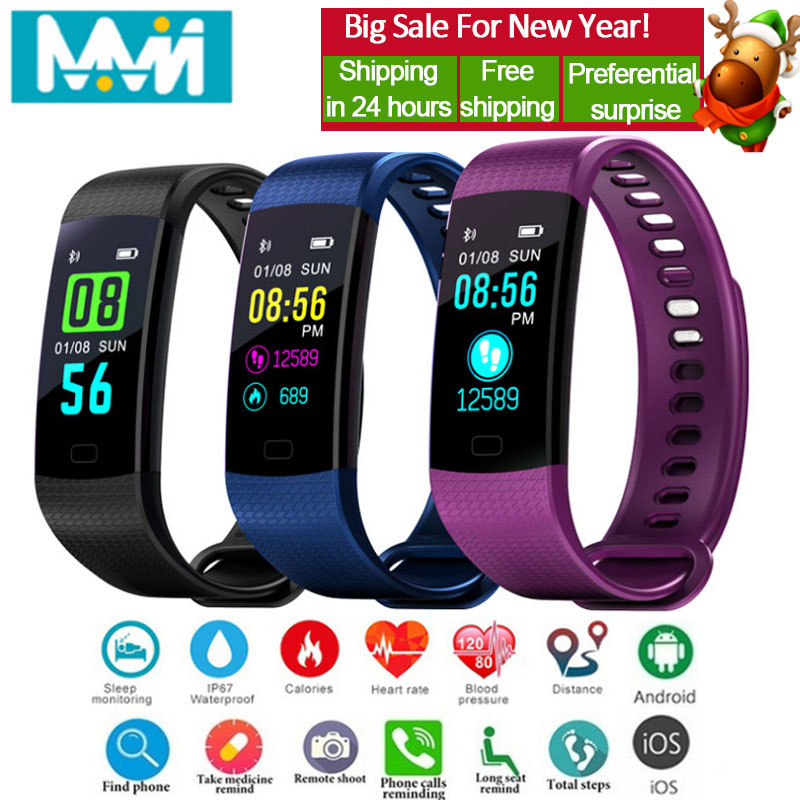 Y5 Smart band Blood Pressure Fitness Band Tracker Waterproof Heart Rate High Brightness Colorful Screen Smart