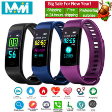 Y5 Smart band Blood Pressure Fitness Band Tracker Waterproof Heart Rate High Brightness Colorful Screen Bracelet PK Mi 3