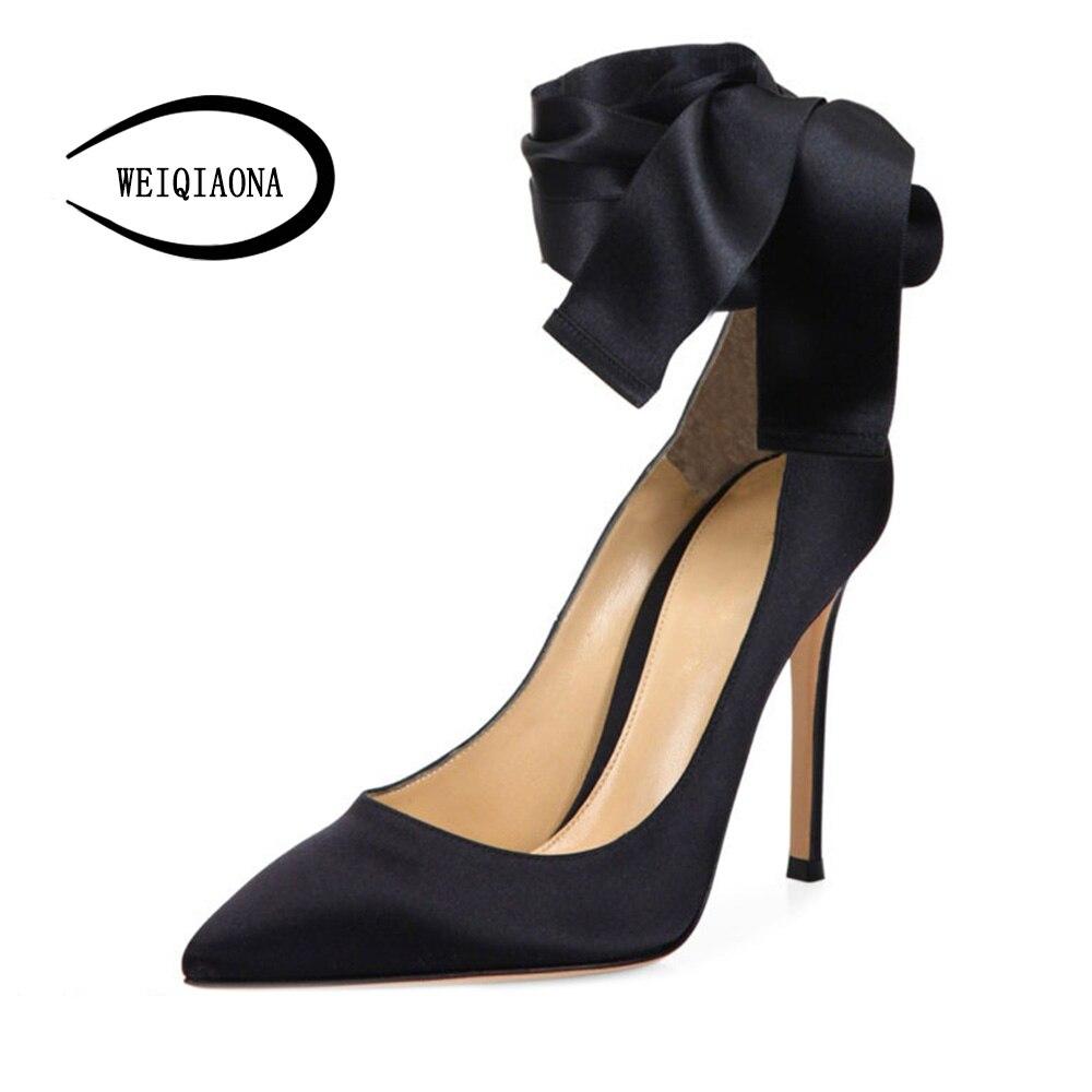 Arc Taille À 42 Vintage Talons Grand rouge Plus Occasionnel De Concepteur Weiqiaona 2018 Femmes Robe Noir Chaussures Soirée Hauts La Marque 34 Mode 60p6qUwz